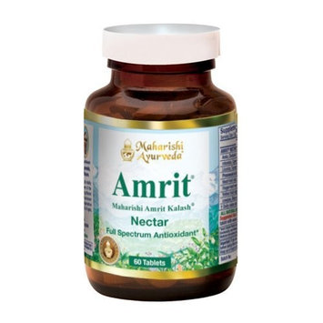 Amrit Kalash Nectar Tablets | 60 Herbal Tablets - 1000 mg ea. | Full-Spectrum Natural Antioxidant Herbal Supplement | Enhances Coordination of Mental Functions | Proven Chemotoxicity Support [Nectar]