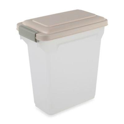 IRIS Food Storage Container, Almond, 15qt