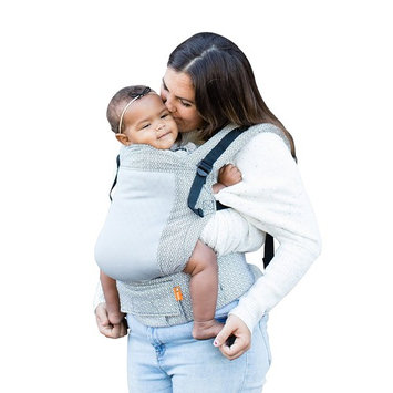 Baby Tula Free-to-Grow Baby Carrier, Adjustable Newborn to Toddler Carrier, Ergonomic and Multiple Positions for 7 – 45 pounds – Coast Archer (White Arrows on Light Gray with Dark Gray Mesh)