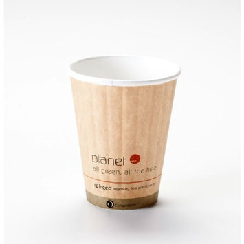 8 Oz. Biodegradable Hot Drink Cup PLA Lined Built-in Heat Sleeve (Pack of 50)