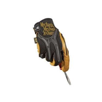 Mechanix Wear 2X Black And Brown CG Full Finger Genuine Leather Heavy Duty Mechanics Gloves With Low Profile Cuff, Reinforced Fingertips, TPR Knuckle And Fingers Protection And Multi-Zone Padded Palm