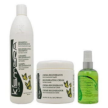 Kismera Line Regenerating Shampoo & Cream 16oz & Lotion 4oz