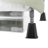 Tall Black Bed Lifts™ (Set of 4)