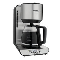 Mr. Coffee 12-Cup Stainless Steel Programmable Coffee Maker, Silver