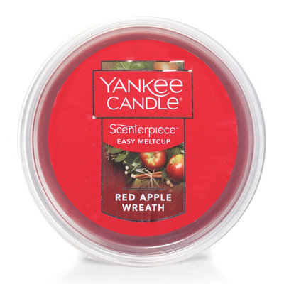 Yankee Candle Red Apple Wreath Scenterpiece Wax Melt Cup, Med Red