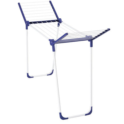 Household Essentials® Pegasus Compact Foldable Clothes Drying Rack in White/Blue