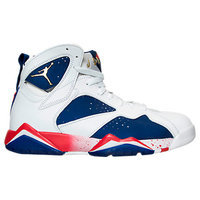 Nike Men's Jordan Retro 7 Olympic Basketball Shoes, White