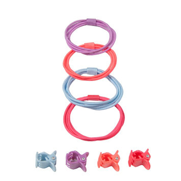 Girls 4-16 OshKosh B'gosh® 8-pk. Hair Ties & Clips Set, Multi