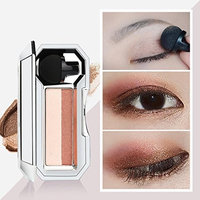 Eyeshadow Palette,Lavany Eye Shadow Powder Palette in Shimmer Two-color Colors Optional With Sponge Eyeshadow Stamp ,Eyeshadow Makeup tools