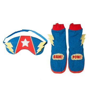 Boys 2-6 OshKosh B'gosh® Superpower Booties & Sleep Mask Set, Hero
