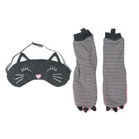 Girls 2-6 OshKosh B'gosh® Cat Socks & Sleep Mask Set, Cat L