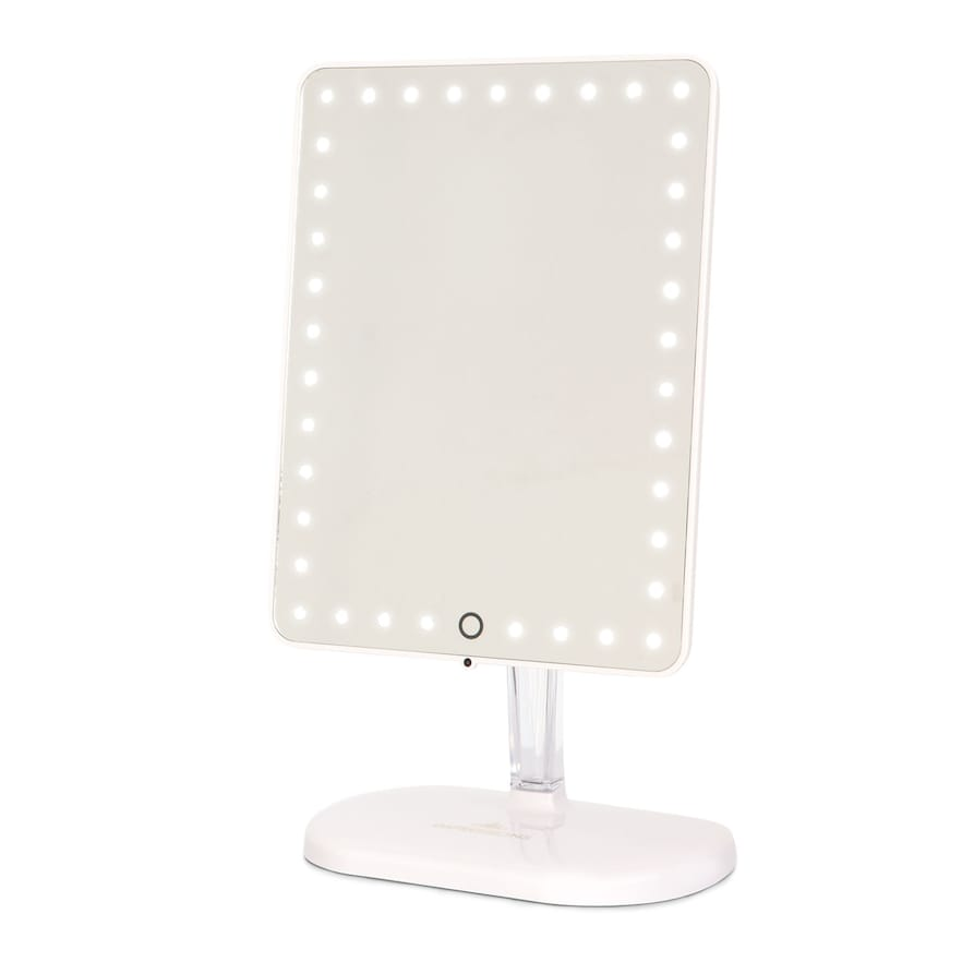 Impressions Vanity Co. Touch Pro Led Makeup Mirror With Bluetooth Audio & Speakerphone, Size One Size - Glossy White