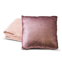 Posh Home Shimmer Throw & Sequin Pillow Set, Pink