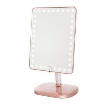 Impressions Vanity Co. Touch Pro Led Makeup Mirror With Bluetooth Audio & Speakerphone, Size One Size - Rose Gold Bling Edition