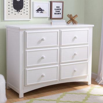 Delta Children 6 Drawer Dresser - Bianca White