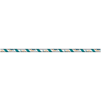 Miami Dolphins Straws, 24-Pack