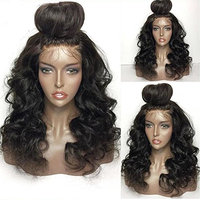 JAHUI Hair Pre Plucked 360 Lace Frontal Wigs with Baby Hair 180%-250% Density Body Wave Brazilian Virgin Hair 360 Lace Wigs for Black Women(12inch with 250 density,Free Part)