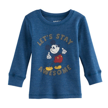 Disney/jumping Beans Disney's Mickey Mouse Baby Boy Winking Thermal Tee by Jumping Beans®, Size: 12 Months, Grey Other