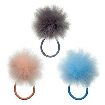 Mudd® Pom Pom Ponytail Holder Set, Women's, Multicolor