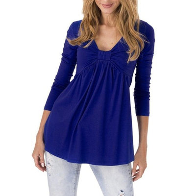 Hot Sale! Clearance! Plus Size! Todaies Women Spring Casual Basic Solid Laciness Stitching Half Sleeve T-shirt Top Blouse