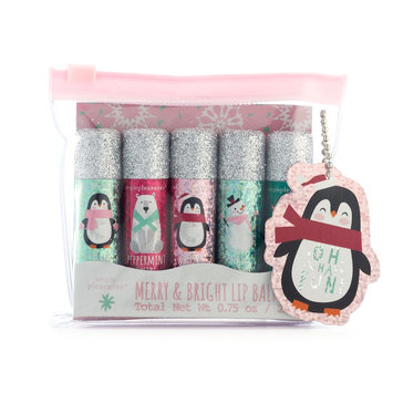 Simple Pleasures 5-pc. Merry & Bright Penguin Lip Balm Set, Multi