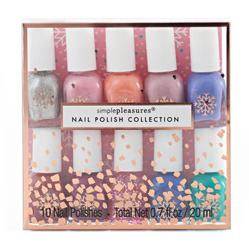 Simple Pleasures 10-pc. Snowflake Mini Nail Polish Set, Multi