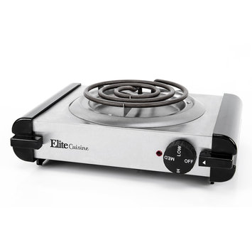Maxi-matic, Usa Elite Cuisine Single Coiled Electric Burner Hot Plate, Stainless Steel