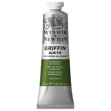 Winsor & Newton 1916503 37ml Griffin Alkyd Color Tube - Permanent Sap Green
