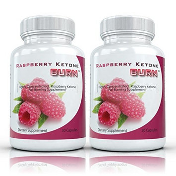 Raspberry Ketone Burn: Pure Raspberry Ketone Weight Loss Supplement   Highly Concentrated Natural Appetite Suppressant, Antioxidant, Weight Loss Diet Pills, 500mg, 30 Capsules (2 Bottles)