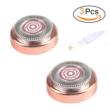 Facial Hair Remover Replacement Heads (Rose Gold) for Electric or Battery Flawless Hair Remover, Good Finishing and Well Touch for Lip,Chin,Cheeks and Sideburns As Seen On TV 18K Gold-Plated 2 Counts