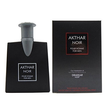 AKTHAR NOIR, 3.2 Ounce Eau De Toilette Spray for Men,Perfect Gift