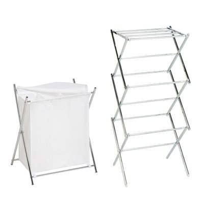 Honey-Can-Do® Drying Rack and 3-Compartment Hamper Set