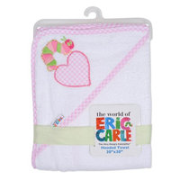 The World Of Eric Carle Pink Heart & Caterpillar Eric Carle Hooded Towel