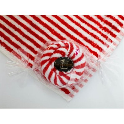 Couture Towel CT-PAPM001401 12 x 11 in. Peppermint Candy Towel Red & White - Set of 2