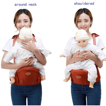 Baby Carrier Toddler Carrier Hip Seat Waist Baby Sling Single Stool -Purplish Red
