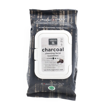 Earth Therapeutics 30-ct. Charcoal Cleansing & Makeup Removing Facial Towelettes, Multicolor