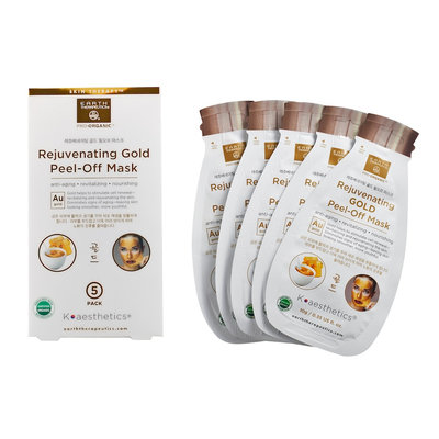 Earth Therapeutics Rejuvenating Gold Peel-Off Face Mask, Multicolor