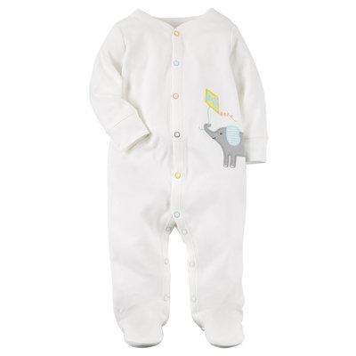 Baby Carter's Kite & Elephant Sleep & Play, Infant Unisex, Size: 9 months, White Oth