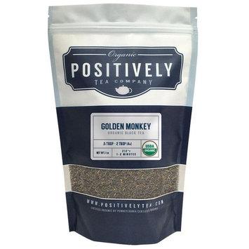 Organic Golden Monkey Black Tea, Loose Leaf Black Tea, Bulk 1 Pound Bag, Positively Tea LLC. (1 Lb.)