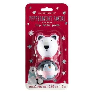 Simple Pleasures 2-pc. Peppermint Swirl Lip Balm Critter Pods