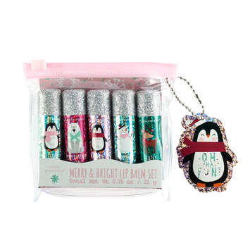 Simple Pleasures 5-pc. Merry & Bright Lip Balm Set, Merry And Bright