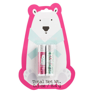 Simple Pleasures Scented Lip Balm Polar Bear 2-Pack, Peppermint And Vanilla