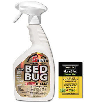 Harris 5-Minute Bed Bug Killer 32 oz. and Insect Bite and Sting Relief Gel Pack