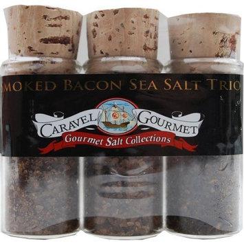 The Smoked Bacon Sea Salt Trio Sampler Set - Smoked Bacon Chipotle, Smoked Peppered Bacon, Smoked Bacon & Onion - Slowly, Naturally Smoked over Alderwood - Gluten-Free, No MSG, Non-GMO - 0.7 oz. each