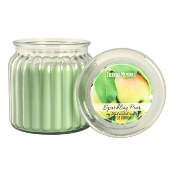 Everyday Memories Sparkling Pear 13-oz. Candle Jar, Green
