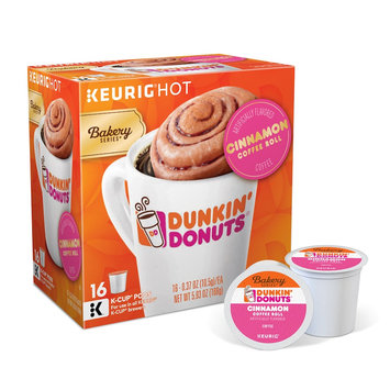 Keurig® K-Cup® Pack 16-Count Dunkin' Donuts® Cinnamon Coffee Roll Coffee