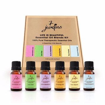 7 Jardins 100% Pure Essential Oils Kit Blend Blood Orange Bergamot Neroli 6 Pack