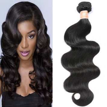 JQM 7A Brazilian Virgin Hair Body Wave Bundles 1 Piece Remy Wavy Human Hair Weave #1B Natural Black 50g/piece