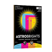 Wausau(R) Astrobrights(R) Filler Paper, 8in. x 10 1/2in, Assorted Colors, Pack Of 100 Sheets