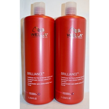 Wella Brilliance Conditioner for Fine to Normal Colored Hair 33.8oz by Well